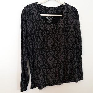 Sonoma Sz XL Shirt with Ruching at the Collar